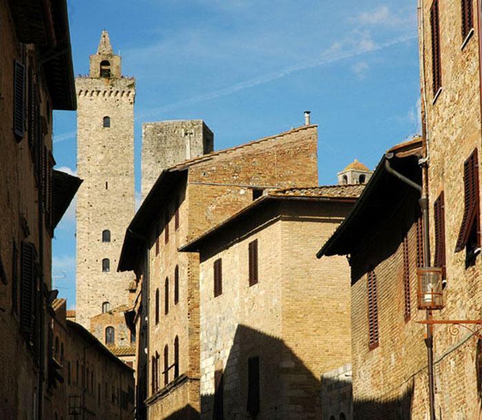 Średniowieczna zabudowa San Gimignano