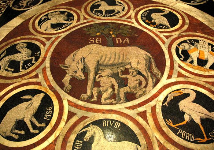 Mozaikowa posadzka Katedry w Sienie