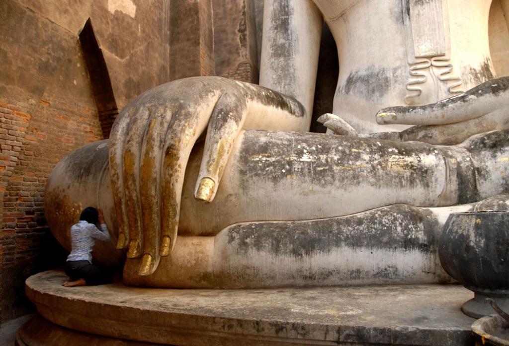 Modlitwa pod palcami Buddy