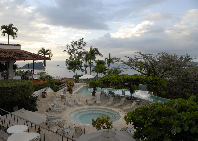 Widok z tarasu hotelu La Moriposa w Manuel Antonio (z listy 100 places to see before you die)