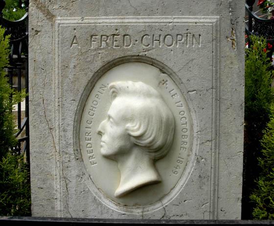 Płaskorzeźba nagrobna Fryderyka Chopina