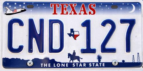 Tablica rejestracyjna stanu Texas