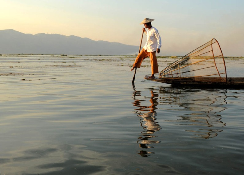 Fishermen of Inle Lake.a